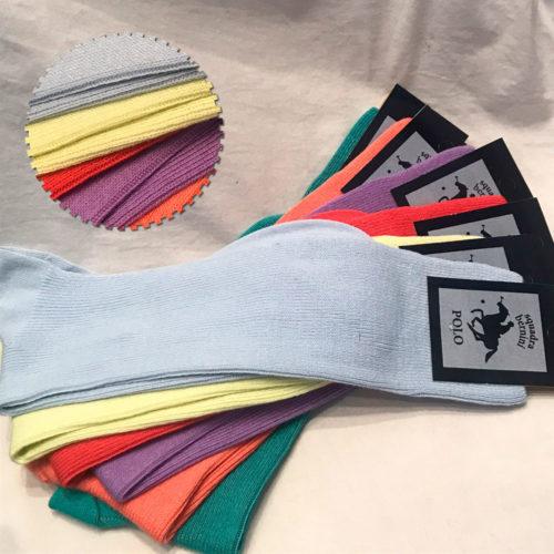 Medias de algodón color