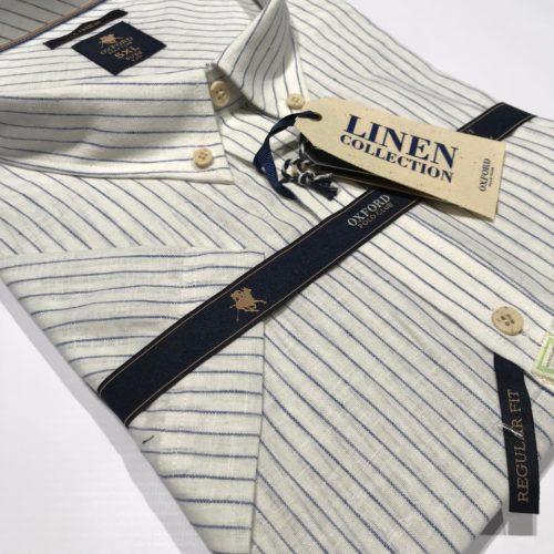 Camisa manga corta Oxford Polo lino 2XL al 5XL.