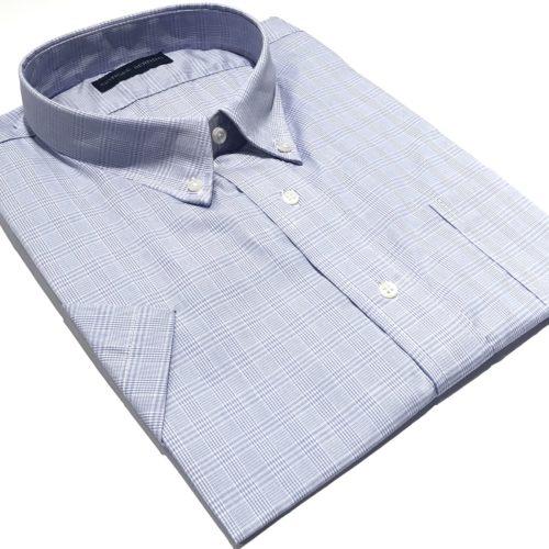 Camisa Talles especiales  manga corta Príncipe de Gales