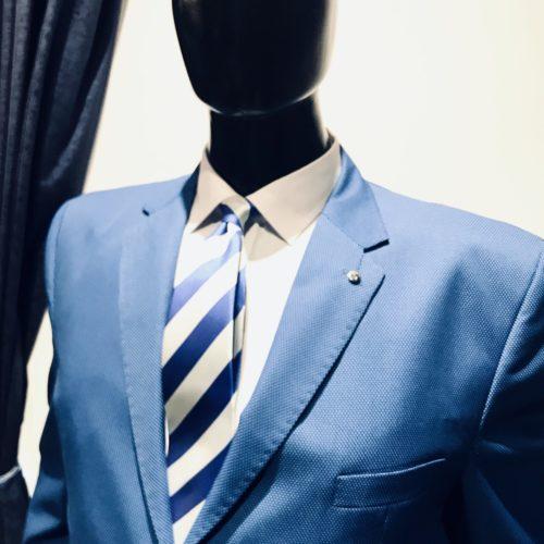 Saco azulino pique talles especiales.