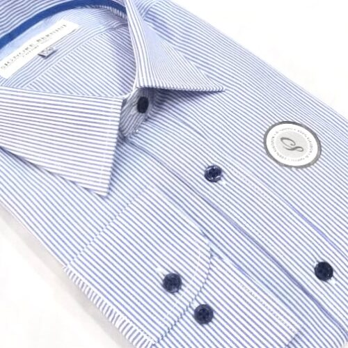 Camisa 1000 rayas azules.