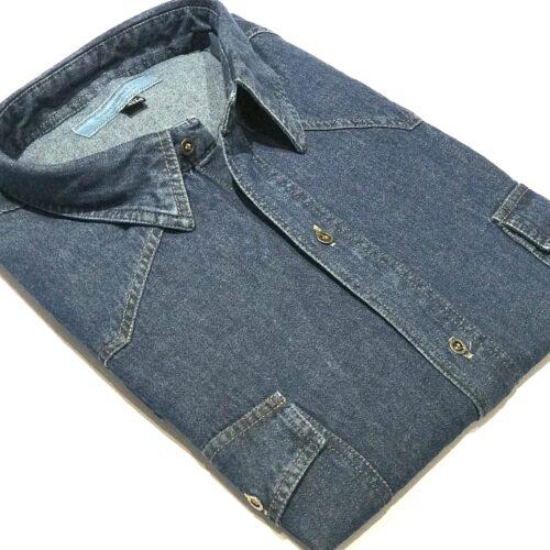 Camisa de jeans talles especiales.