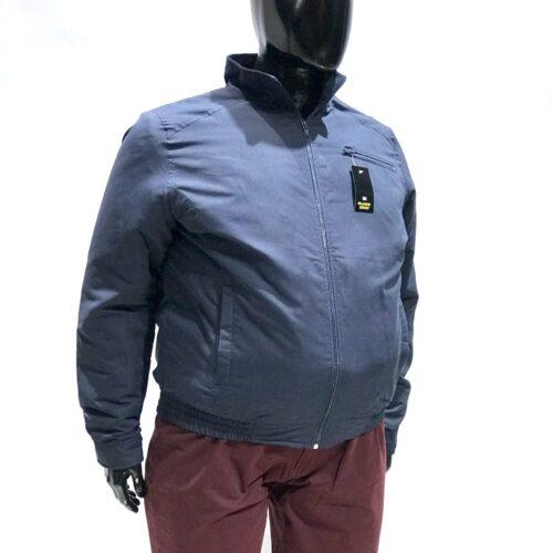 Campera microfibra azul talles especiales.