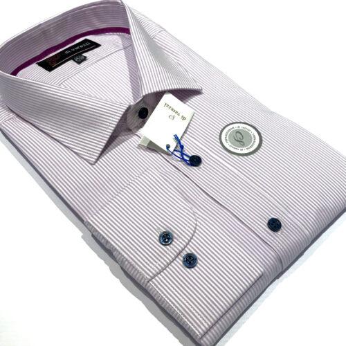 Camisas 1000 rayas lavanda talles especiales.