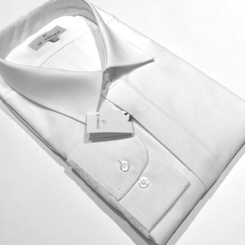 Camisa blanca lisa vestir talles especiales.